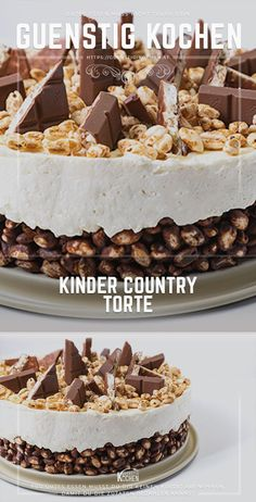The children& country cake is made in no time without baking- Die Kinder Country Torte ist Ruck Zuck ohne Backen gemacht The children& country cake is an eye-catcher on everyone … - Torte Au Chocolat, Red Wine Gravy, Tuscan Garlic Chicken, Flaky Pastry, Mince Pies, Food Cakes, Cake Recipes, Dessert Recipes, Easy Meals