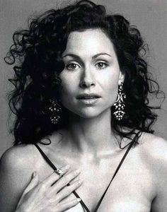 Curly Hair Cut. Minnie Driver. Long Dark Brown Extremely Curly Hair Style Picture.