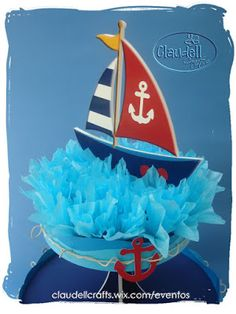 Claudell Crafts: +Fiesta Temática: Náutica+ Sailor Baby Showers, 2nd Baby Showers, Baby Shower Parties, Baby Shower Themes, Baby Boy Shower, Nautical Birthday Cakes, Nautical Party, Nautical Wedding, Baby Showers Marinero