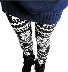 Ugly Christmas Sweater Leggings...that I don't think are very ugly at all!