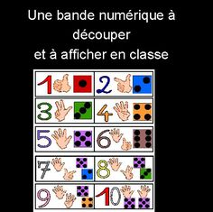 affiches numeration sous main date fiches techniques Numbers 1 10, Petite Section, Learn French, Ms Gs, Toddler Preschool, Teaching Tools, Counting, Activities For Kids, Kindergarten
