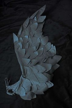 awesome duct tape wings, for the angel of crafts who bears all golden nuggets of inspiration