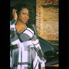 Checkered Chiffon Dress #TallGirlsBeLike