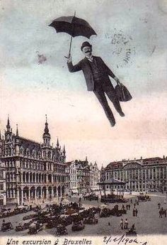 Bruxelles insolite. Surreal as ever. #brussels #postcard