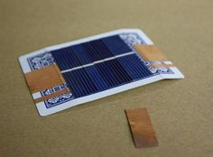 How to Turn a Playing Card into a Super Simple Solar-Powered Battery Charger « Hacks, Mods & Circuitry