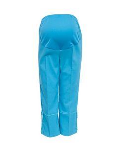 ddde2cc7d930c Aqua Blue Maternity Capri Faux Leg Tie *** Visit the image link more details .
