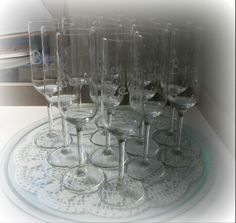 Champagne glasses with Bea's name