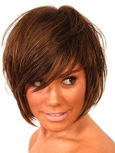 bob hair cut with bangs