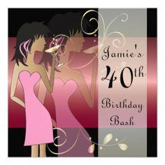Customize Birthday Bash Party Invitation.  www.zazzle.com/designsbydonnasiggy*  #birthday #customize #zazzle