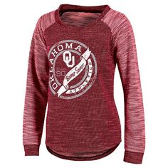 • Crafted in a lightweight fabric that is soft and comfortable<br>• This long sleeve, jersey-style tee has a flattering boat neck<br>• Screen printed design is perfect for any fan<br><br>This NCAA Oklahoma Sooners Women's Raglan Long-Sleeve Shirt is a perfect mix of modern and classic. Featuring so many great details, this graphic tee lets you show your team spirit without sacrificing style. Perfect for your next game day get together.