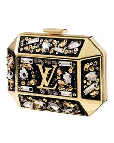 Minaudi�res  Crystal-embellished brass clutch, Louis Vuitton,