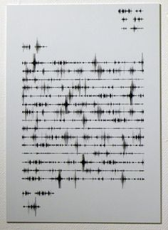 INSPIRATION: Jennifer Cantwell - Letter home (2011). The sound of words waveforms.