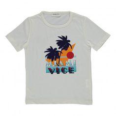 T-shirt Miami Vice Ecru  Simple Kids