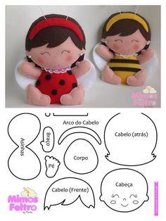 Joaninha/abelhinha - Marisa - Mimos de Feltro: