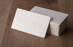 Stitch Press | business card design by San Wanshan Huang. hellosansan.com. Printed by stitchpress.com.au.