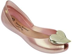The Official UK Home of Melissa Shoes Gold Flip Flops, Flip Flop Shoes, Vivienne Westwood Melissa Shoes, Irregular Shoes, Rose Gold Shoes, Shiny Shoes, Flat Shoes, Vivienne Westwood Anglomania, Peep Toe Shoes