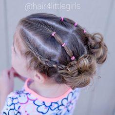 """343 Likes, 10 Comments - Liz (@hair4littlegirls) on Instagram: """"Toddler pigtail messy buns  . . #hairbyme #hairofinstagram #kidsfashion #instabraid #instahair…"""""""