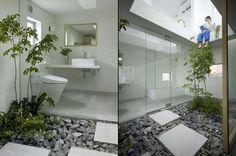 Indoor/outdoor bathroom in Nagoya, Japan