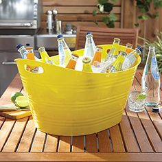 Yellow party tub