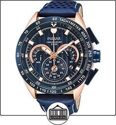 Pulsar  Sport - Reloj de cuarzo para hombre, con correa de cuero, color negro de  ✿ Relojes para hombre - (Gama media/alta) ✿