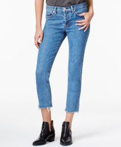 Hudson Jeans Cropped Straight-Leg Jeans - Blue 27