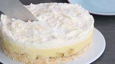 To najlepsze ciasto bananowe bez pieczenia jakie jadłam. Nutka kokosu tylko dodaje smaku!