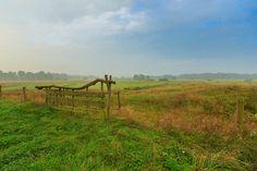 A typical Drents fence in the Nationaal beek- en esdorpenlandschap Drentsche Aa, Drenthe The Netherlands