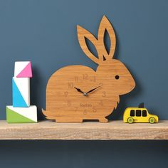 Tell the time with this modern wall clock. | 21 Ways To Subtly Cover Your Home In Bunnies