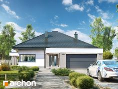 Dom w nigellach 2 Residential Building Plan, Single Storey House Plans, Cottage Plan, Farmhouse Design, Pergola, Outdoor Decor, Gallery, Home Decor, Home Plans