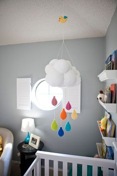 Project Nursery - Gray and Orange Eclectic Room Mobile