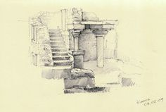Travel sketches by Nicolay Belkin, via Behance