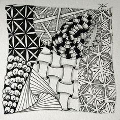 Zentangle-Kachel von Anya Lothrop, CZT