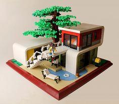 Contemporary House #2 by Tom Remy. More pics at archbrick.com #lego #legohouse #legoideas #legostagram #legobuilding #legos #legophotography #legophoto #legoarchitecture