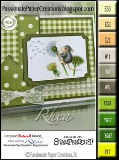 Passionate Paper Creations: House Mouse Week with Stampendous Day 3