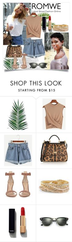 """romwe"" by dina-97 ❤ liked on Polyvore featuring Nika, Dolce&Gabbana, Gianvito Rossi, Torrid, Chanel and Ray-Ban"