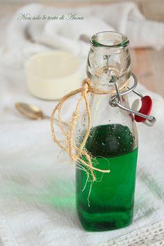 sciroppo di menta Fruit Drinks, Fruit Juice, Wine Drinks, Fresh Fruit, Beverages, Gelato, Recipe For Teens, Limoncello, Vegans