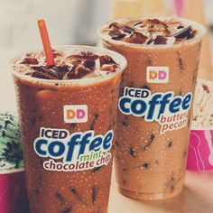 No foolin'! Try Baskin-Robbins inspireDD Iced Coffee flavors Mint Chocolate Chip & Old Fashioned Butter Pecan at participating U. Dunkin Donuts Coffee, Iced Coffee, Coffee Drinks, Mister Donuts, Baskin Robbins, Secret Menu, Sushi Recipes, Butter Pecan, Mint Chocolate Chips