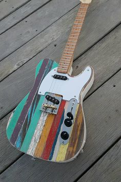 Pixel in aged relic finish. Maple by FannerGuitarWorks