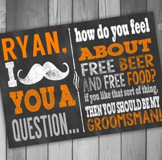 Will You Be My Groomsman Will You Be My Best Man Will You Be My Ring Bearer Wedding Party Invitation Chalkboard Invitation