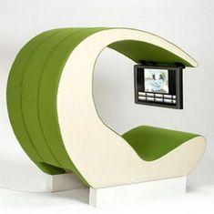 Futuristic Furniture, Chair, Fabulous Multimedia Shelter System by Johan Berhin Unusual Furniture, Green Furniture, Funky Furniture, Cheap Furniture, Furniture Design, Furniture Ideas, Furniture Removal, Deco Furniture, Furniture Companies