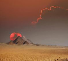 The Pyramids of Egypt at Sunset