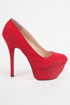 Tobi Everly Platform Heels - Red
