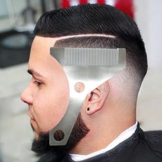 Hangdawuzi Beard Styling and Shaping Template Comb Tool ( Lining / Shaping / Edging ) (Beard Styling 2)