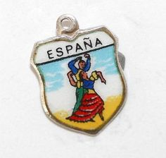 Spanish Flamenco Dancer Spain 3D .925 Solid Sterling Silver Charm MADE IN USA