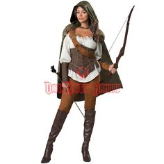 Enchanted Forest Huntress Deluxe Womens Costume - IN-1139 from Dark Knight Armoury