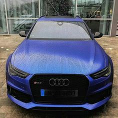 Matte Blue Audi RS6! This car looks so cool in matte blue. What do you think of the color? Tag someone that should have a car like this! ------ Photo by @renerast!