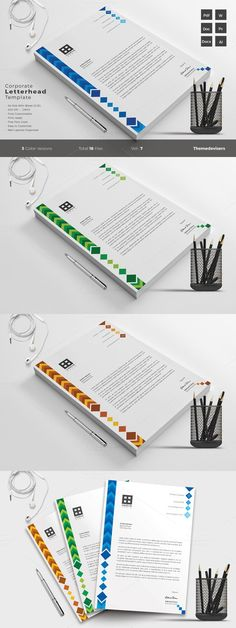 Corporate Letterhead Vol2 with MS Word Doc Word doc, Letterhead - corporate letterhead template