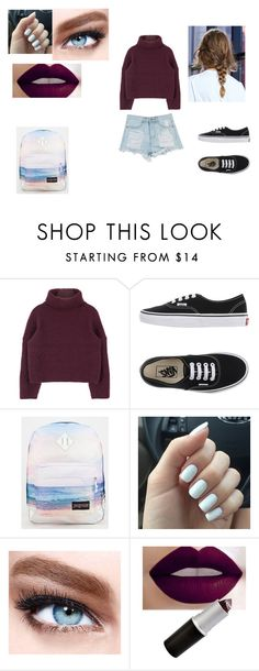 """""""Cool 5"""" by luana-fernandez11 on Polyvore featuring Vans, JanSport and Maybelline"""