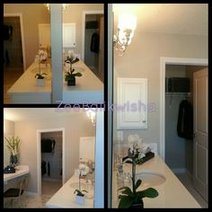 His and Hers bathroom style. Each get there own side with walk in closet.   Mahogany Showhomes 2014-Calgary