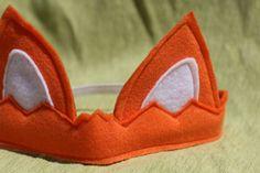 Kid's Animal Costume  Orange Fox Ears  Crown by Whimsywerks, $10.00
